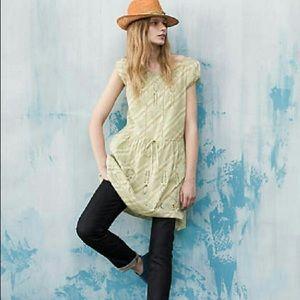 Anthropologie Meadow Rue Konza Green Eyelet Dress